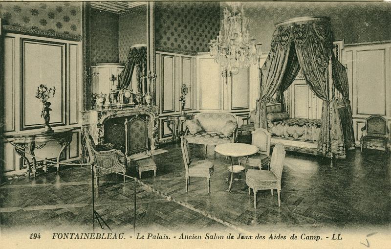 Cpa a echanger/77 - Fontainebleau - Palais - Ancien Salon de Jeux ...